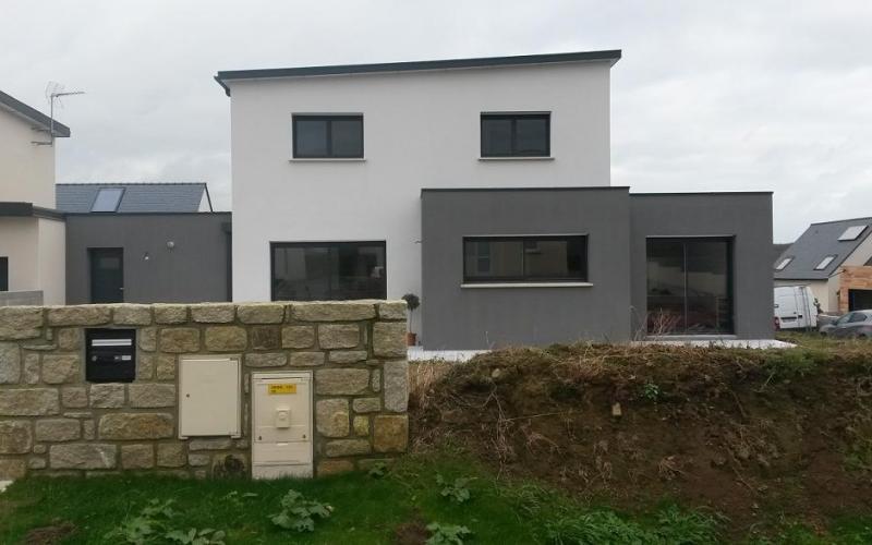Maison tourelle kersaint plabennec kermor habitat - Garage bervas kersaint plabennec ...