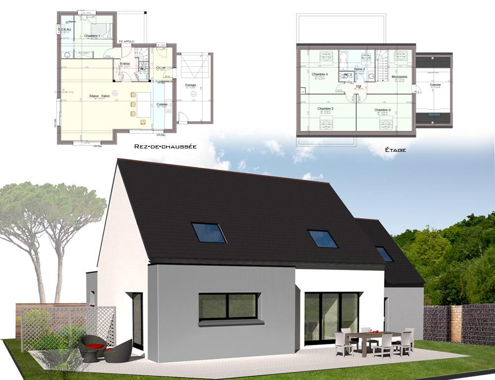 style d 39 architecture maisons traditionnelles kermor habitat. Black Bedroom Furniture Sets. Home Design Ideas