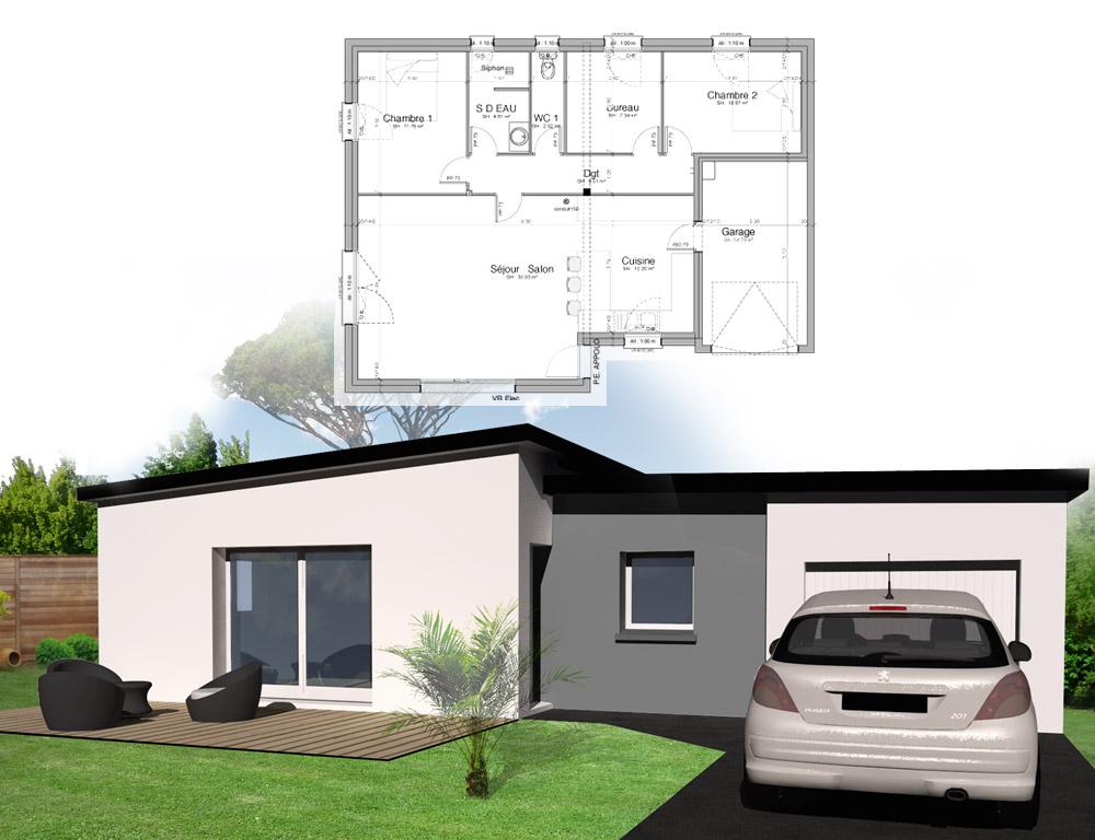 Style d 39 architecture maison plain pied kermor habitat for Construisez votre propre maison moderne
