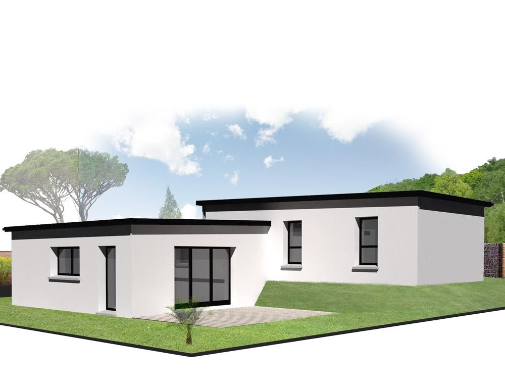 style d 39 architecture maison plain pied kermor habitat. Black Bedroom Furniture Sets. Home Design Ideas