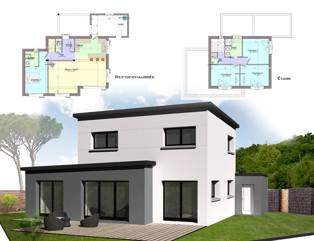 Style d 39 architecture maison contemporaine avec tage for Style maison contemporaine