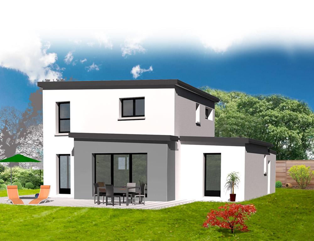 Style D Architecture Maison Contemporaine Avec Etage Kermor